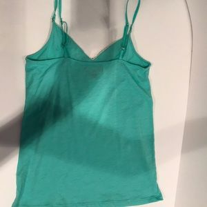 American Eagle Outfitters Tops - American Eagle Green/white cami/tank